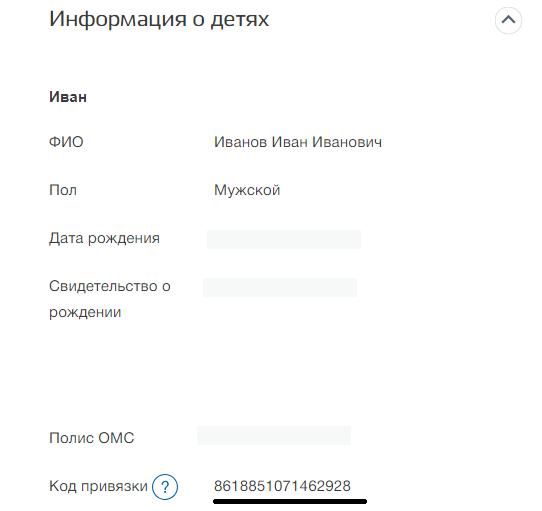 код для привязки аккаунтов госуслуг