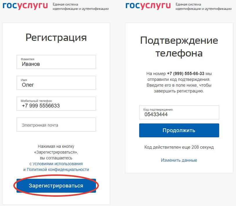 подтверждение регистрации на портале госуслуг
