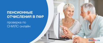 Проверка пенсионных отчислений в ПФР по СНИЛС через интернет