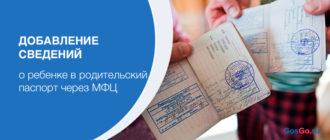 Добавление сведений о ребенке в родительский паспорт через МФЦ