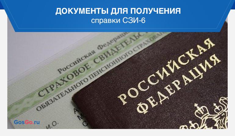 документы для получения справки сзи 6