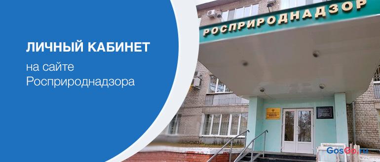 Личный кабинет на сайте Росприроднадзора
