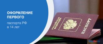 Оформление первого паспорта РФ в 14 лет