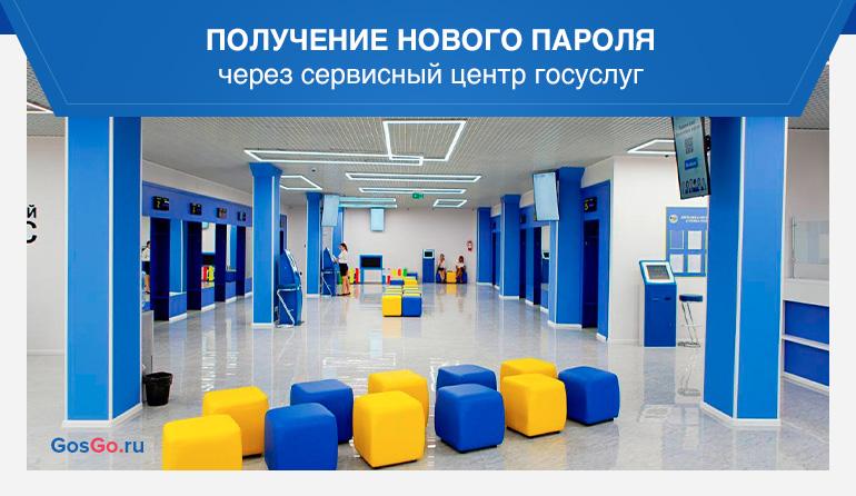 Получение нового пароля через сервисный центр госуслуг