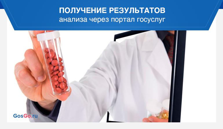 Получение результатов анализа через портал госуслуг