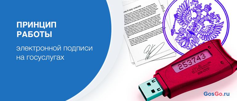 Принцип работы электронной подписи на госуслугах