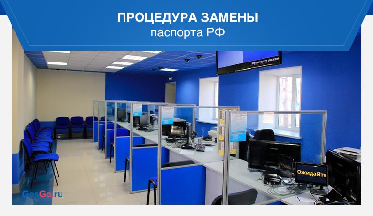 Процедура замены паспорта РФ