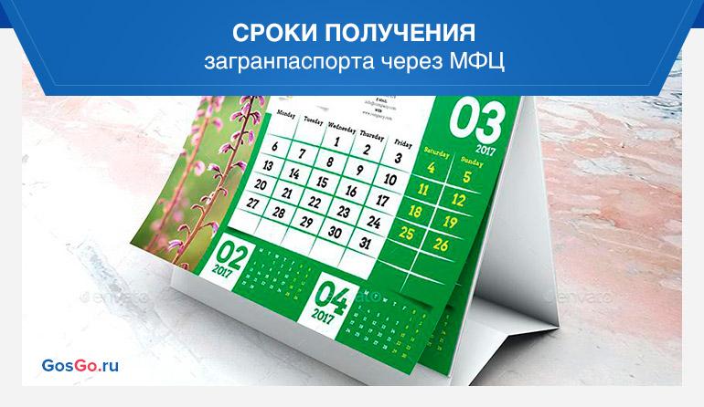Сроки получения загранпаспорта через МФЦ