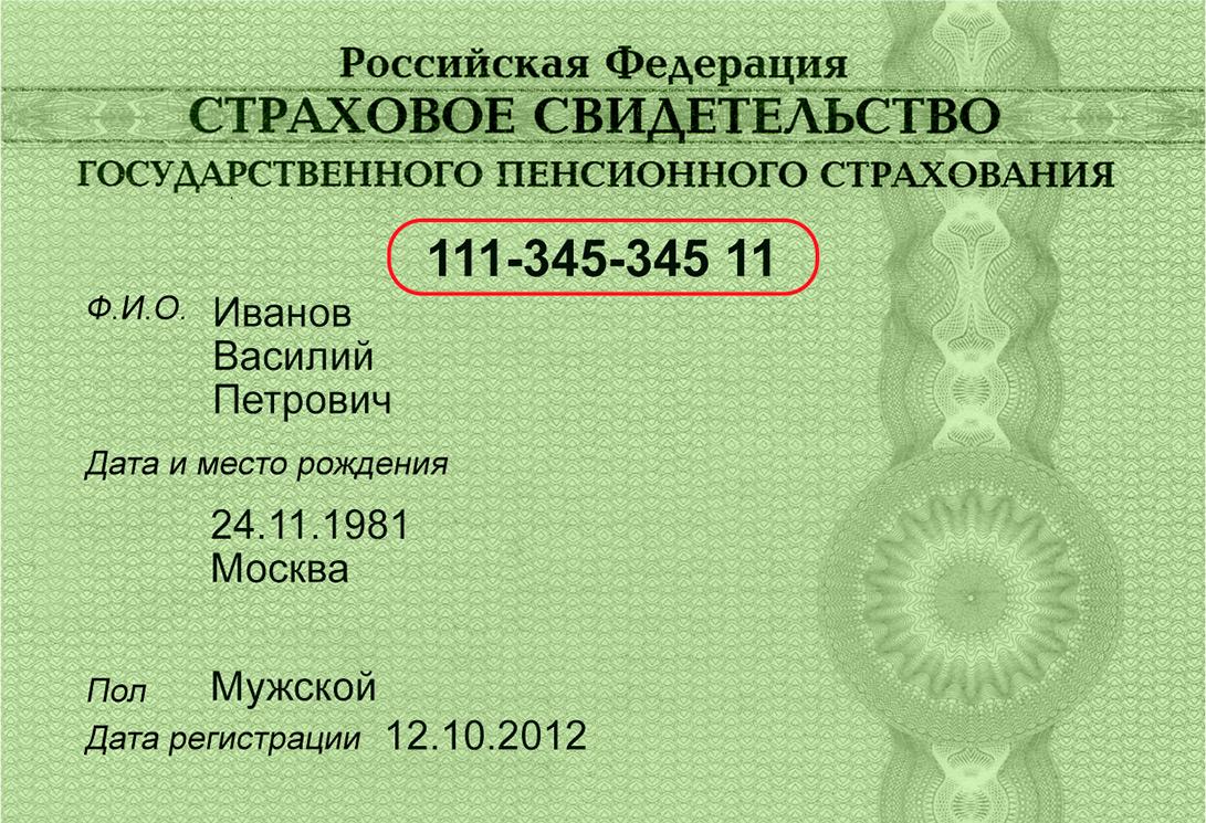 Страховой номер индивидуального лицевого счета для получения ЭЦП