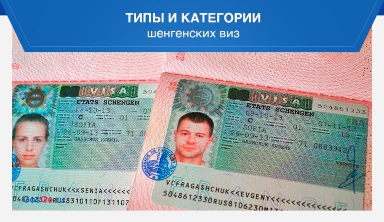 Типы и категории шенгенских виз