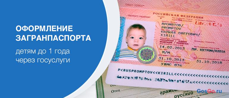 Оформление загранпаспорта детям до 1 года через госуслуги