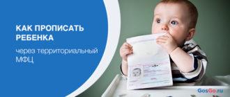 Как прописать ребенка через территориальный МФЦ