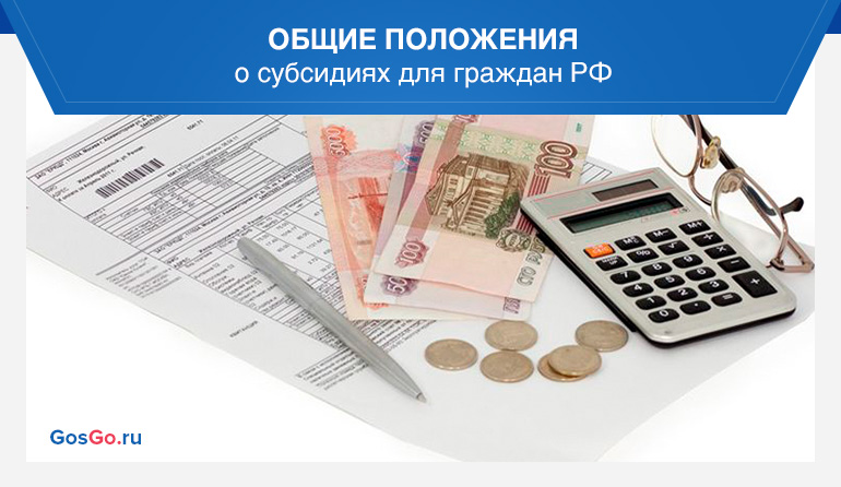 Общие положения о субсидиях для граждан РФ