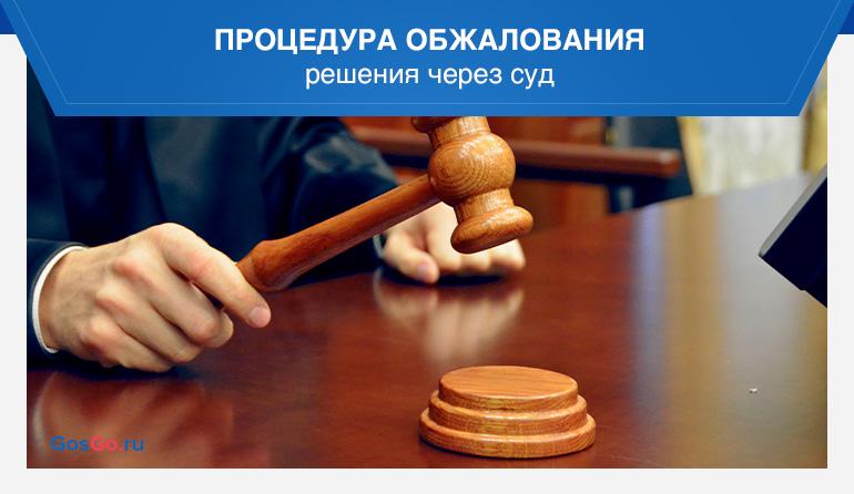 Процедура обжалования решения через суд