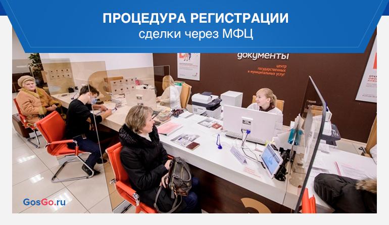 Процедура регистрации сделки через МФЦ