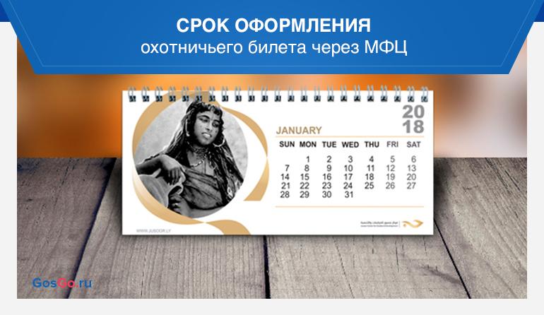 Срок оформления охотничьего билета через МФЦ
