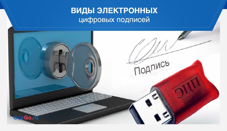 Виды электронных цифровых подписей