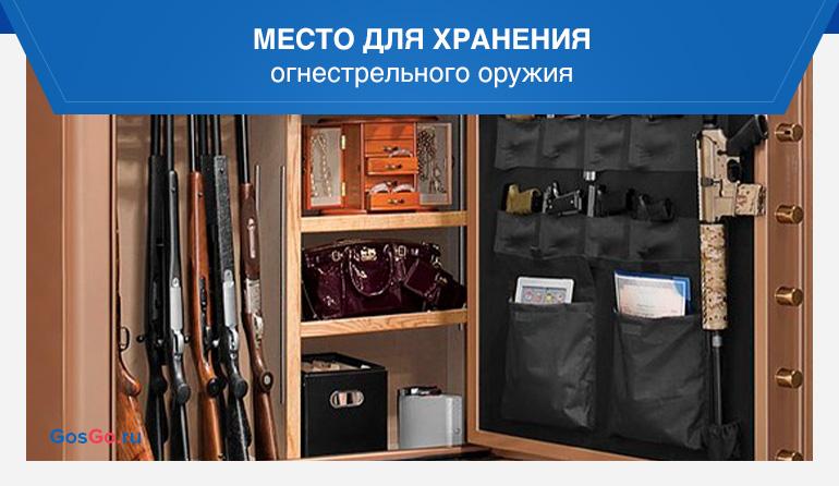 Место для хранения огнестрельного оружия