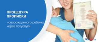 Процедура прописки новорожденного ребенка через госуслуги