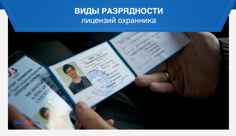 Виды разрядности лицензий охранника