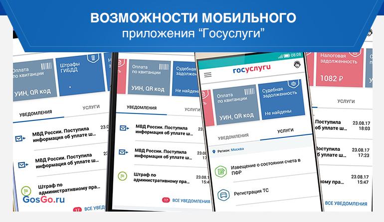 """Возможности мобильного приложения """"Госуслуги"""""""