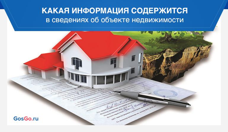 Какая информация содержится в сведениях об объекте недвижимости