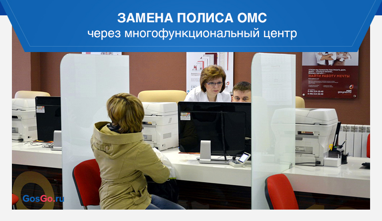 Замена полиса ОМС через многофункциональный центр